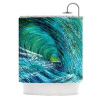 KESS InHouse Josh Serafin Natural High Blue Green Shower Curtain (69x70)