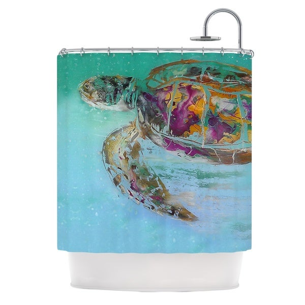 KESS InHouse Josh Serafin Mommy Turtle Shower Curtain (69x70)