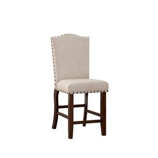 Cressida Cappuccino Counter-height Chairs (Set of 2)