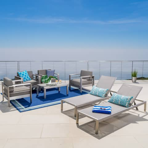 Cape Coral Outdoor 7-piece Seating Set with Cushions by Christopher Knight Home
