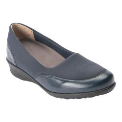 Women's Drew London II Wedge Navy Leather/Stretch