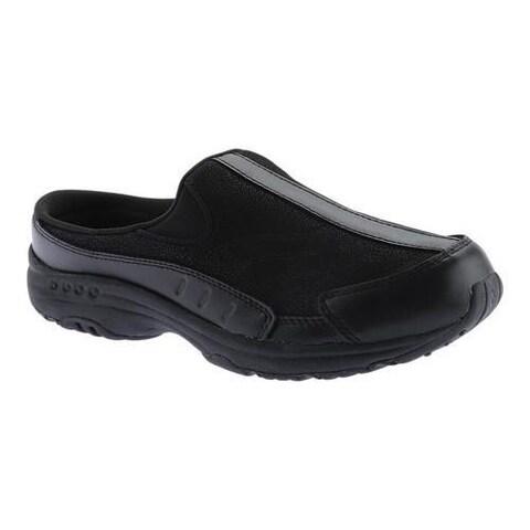 Women's Easy Spirit Traveltime Slip-on New All Black Leather