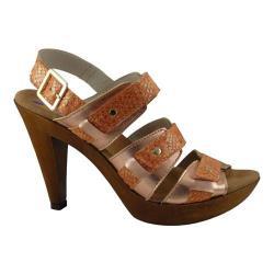 Women's Helle Comfort Nayana Sandal Brown Snake Metallic