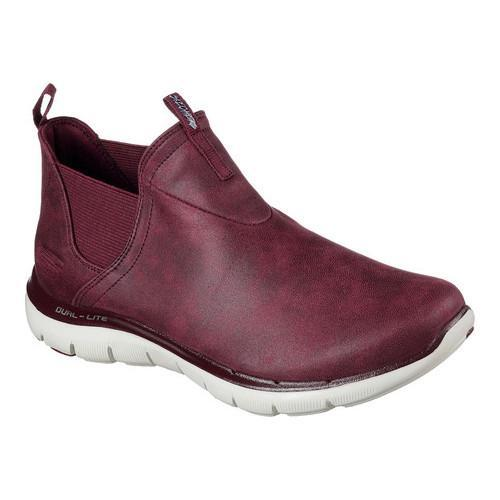 Women's Skechers Flex Appeal 2.0 Done Deal Sneaker Boot Burgundy