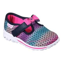 Girls' Skechers GOwalk Cutie Craze T-Strap Sneaker Navy/Multi