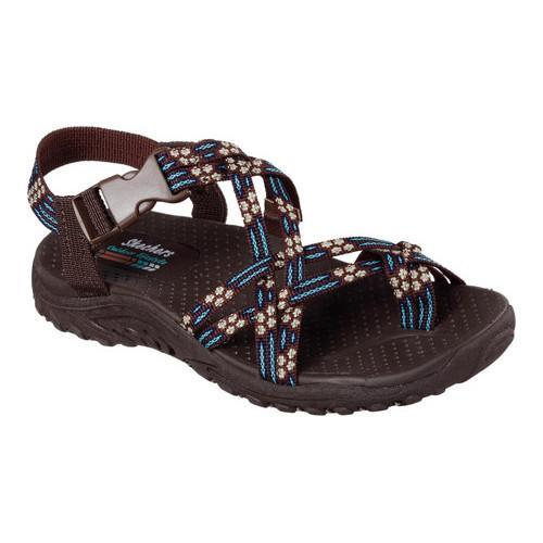 2e01e2fb4ca1 Shop Women s Skechers Reggae Loopy Sandal Chocolate Blue - Free Shipping On  Orders Over  45 - Overstock - 13876195