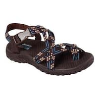 Women's Skechers Reggae Loopy Sandal Chocolate/Blue