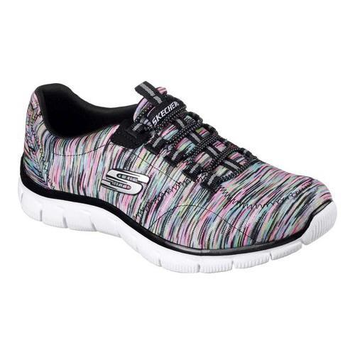 Women's Skechers Relaxed Fit Empire Game On Walking Shoe Black/Multi