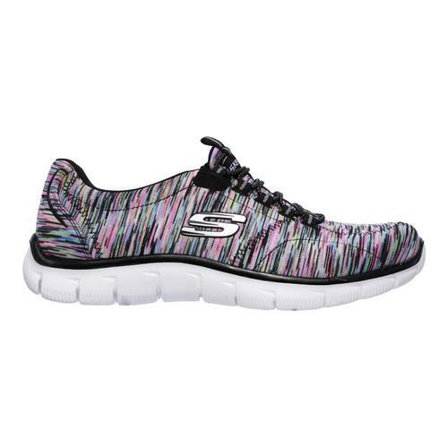 Women's Skechers Relaxed Fit Empire Game On Walking Shoe Black/Multi - Thumbnail 1