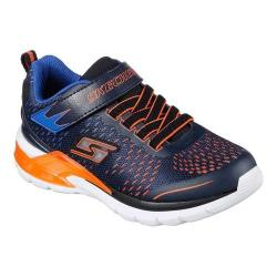 Boys' Skechers S Lights Erupters II Lava Arc Sneaker Navy/Orange