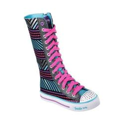 Girls' Skechers Twinkle Toes Shuffles Tall Tango High Top Black/Multi