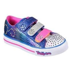 Girls' Skechers Twinkle Toes Step Up Sparkle Spice Sneaker Royal/Hot Pink