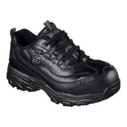 Women's Skechers Work D'Lites SR Pooler Alloy Toe Work Shoe Black