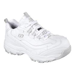 Women's Skechers Work D'Lites SR Pooler Alloy Toe Work Shoe White