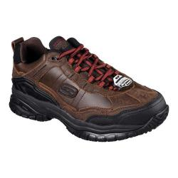 Men's Skechers Work Relaxed Fit Soft Stride Acworth SR Work Shoe Brown