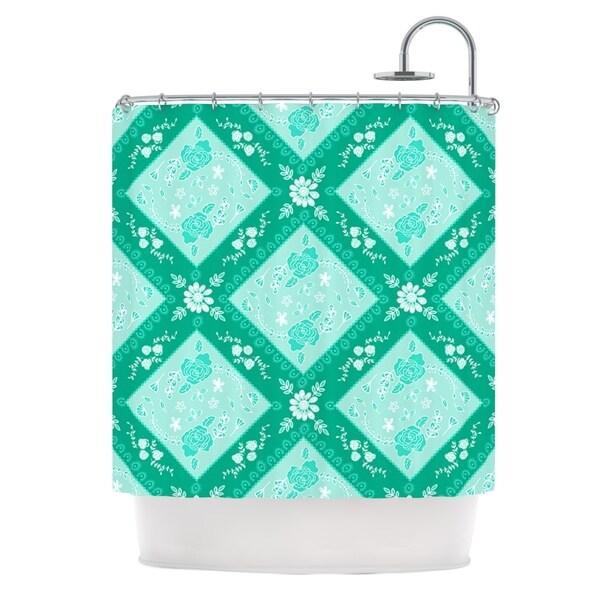 KESS InHouse Anneline Sophia Diamonds Mint Green Seafoam Shower Curtain (69x70)