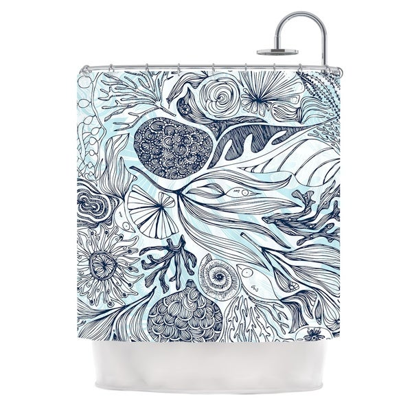 KESS InHouse Anchobee Marina Blue Aqua Shower Curtain (69x70)