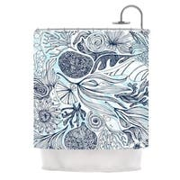 KESS InHouse Anchobee Marina Blue Aqua Shower Curtain (69x70)