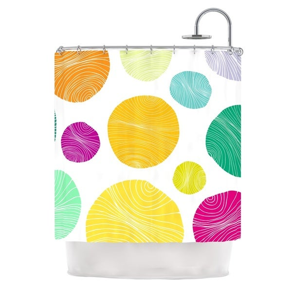 KESS InHouse Anchobee Eolo Multicolor Circles Shower Curtain (69x70)