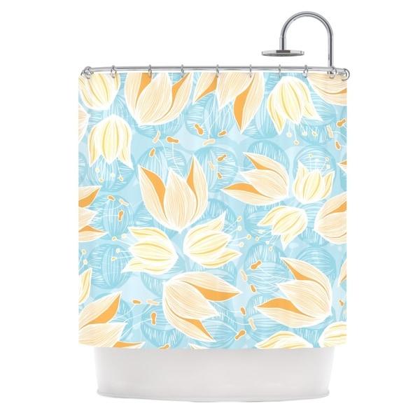 KESS InHouse Anchobee Giallo Shower Curtain (69x70)