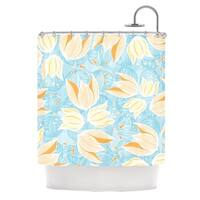 KESS InHouse Anchobee Giallo Shower Curtain (69x70)