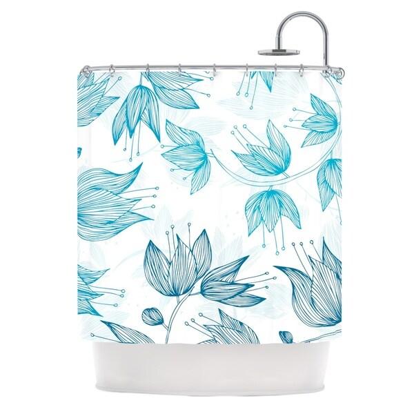 KESS InHouse Anchobee Biru Dream Shower Curtain (69x70)