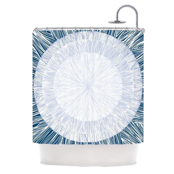 KESS InHouse Anchobee Pulp Shower Curtain (69x70)