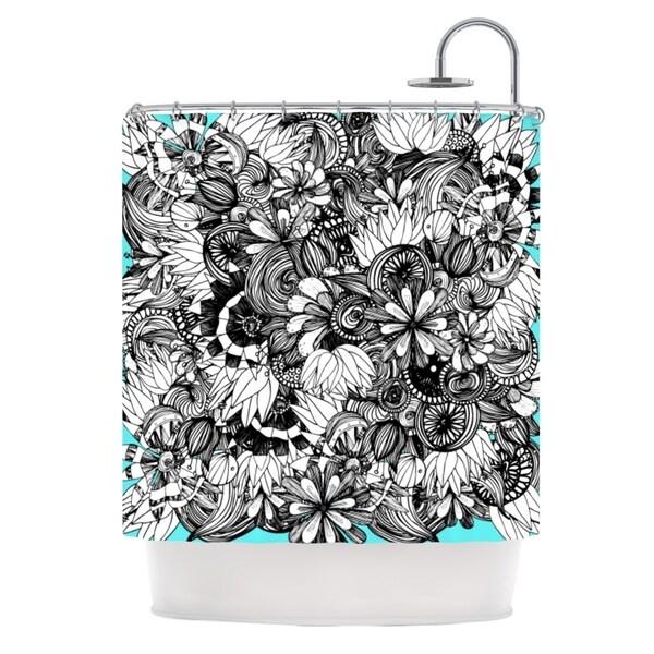 KESS InHouse Anchobee Blumen Shower Curtain (69x70)