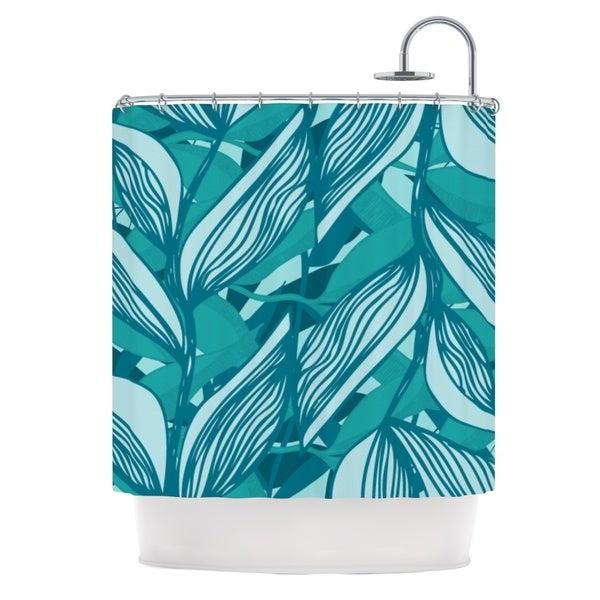 KESS InHouse Anchobee Algae Shower Curtain (69x70)