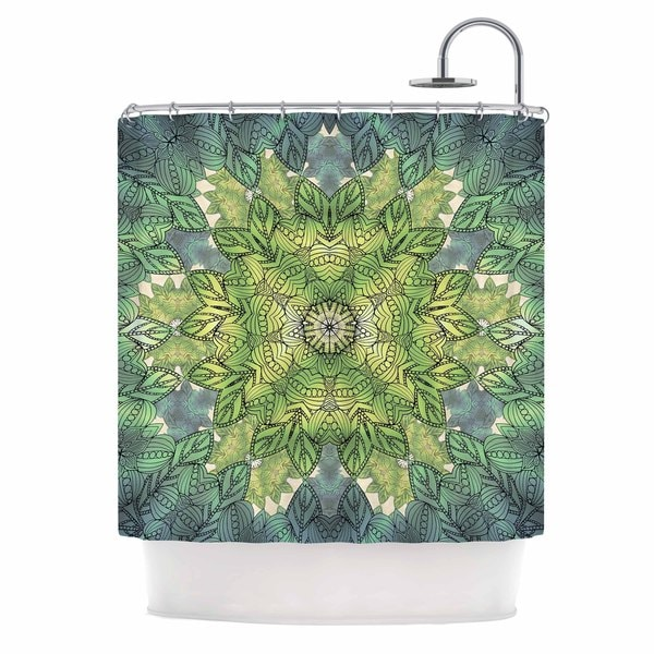 KESS InHouse Art Love Passion Celtic Mandala Shower Curtain