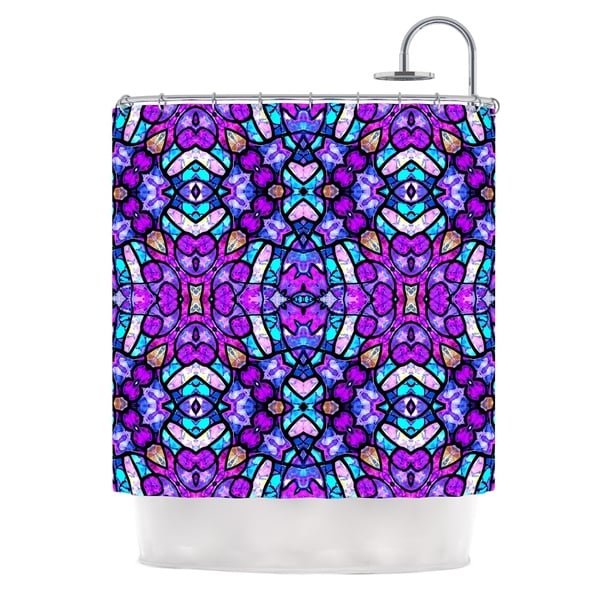 KESS InHouse Art Love Passion Kaleidoscope Dream Continued Purple Pink Shower Curtain (69x70)