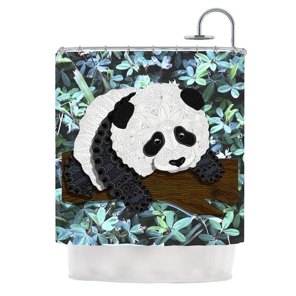 KESS InHouse Art Love Passion Panda Black White Shower Curtain (69x70)