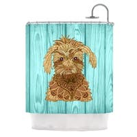 KESS InHouse Art Love Passion Gatsby the Great Brown Dog Shower Curtain (69x70)