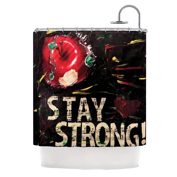 KESS InHouse Alexa Nicole Stay Strong Shower Curtain (69x70)