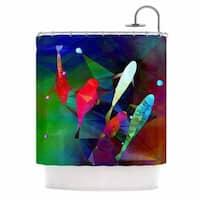 KESS InHouse AlyZen Moonshadow FISH 2 Blue Purple Shower Curtain (69x70)