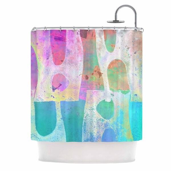 KESS InHouse AlyZen Moonshadow VILLI Teal Purple Shower Curtain (69x70)