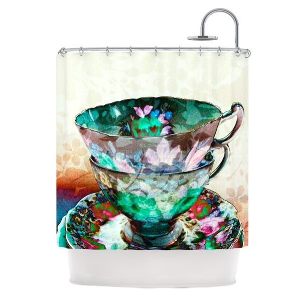KESS InHouse alyZen Moonshadow Mad Hatters T-Party III Abstract Shower Curtain (69x70)