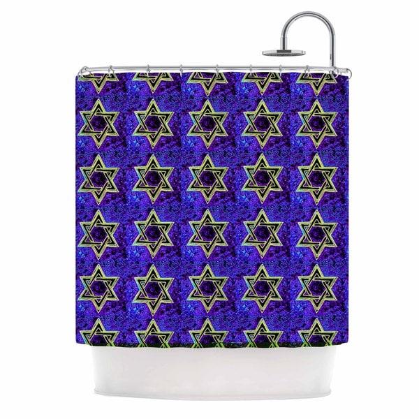 KESS InHouse Anne LaBrie David's Starry Sky! Blue Pattern Shower Curtain (69x70)