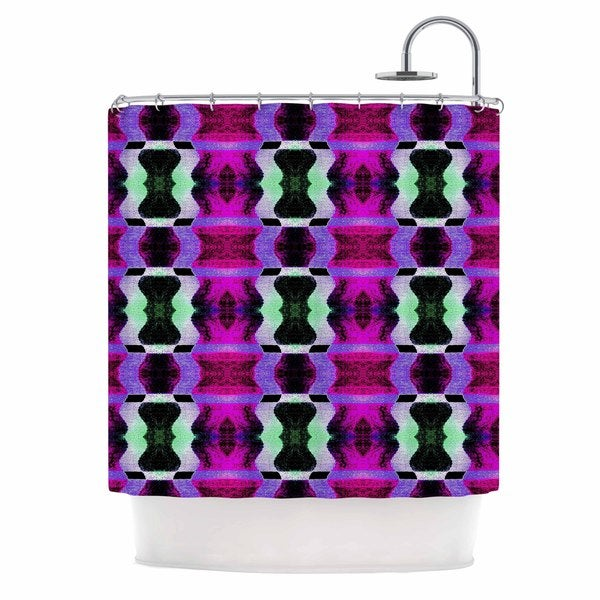 KESS InHouse Anne LaBrie High Vibrations Magenta Purple Shower Curtain (69x70)