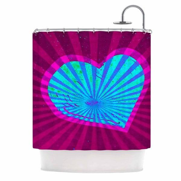 KESS InHouse Anne LaBrie Love Light Blue Modern Shower Curtain (69x70)