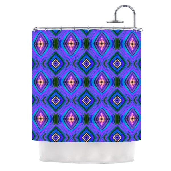 KESS InHouse Anne LaBrie Dark Diamond Purple Blue Shower Curtain (69x70)