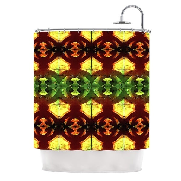 KESS InHouse Anne LaBrie Tribal Marsala Red Yellow Shower Curtain (69x70)