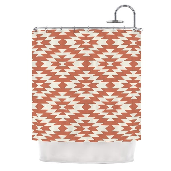 KESS InHouse Amanda Lane Toasted Coral Red Tribal Shower Curtain (69x70)