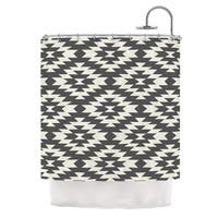 KESS InHouse Amanda Lane Black Cream Tribal Geometric Shower Curtain (69x70)