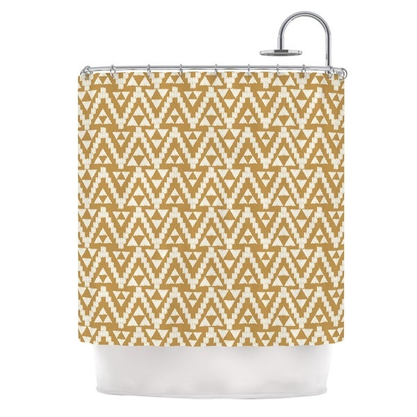 KESS InHouse Amanda Lane Geo Tribal Mustard Yellow Aztec Shower Curtain (69x70)