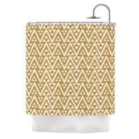 KESS InHouse Amanda Lane Geo Tribal Mustard Yellow Aztec Shower Curtain (69x70)