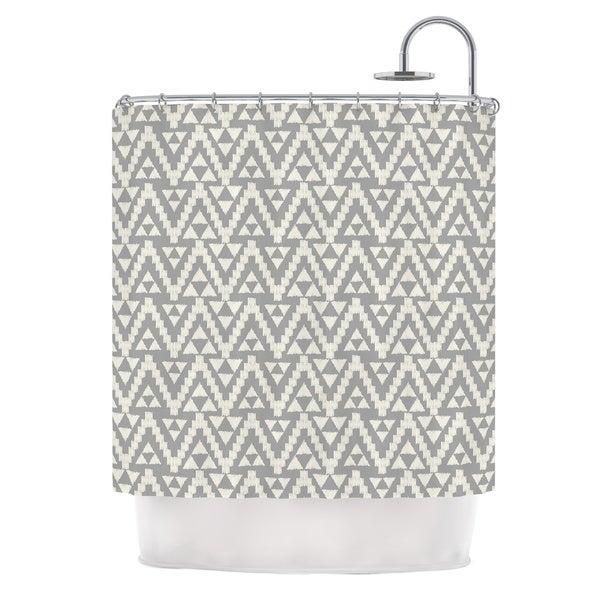 KESS InHouse Amanda Lane Geo Tribal Gray Grey Tribal Shower Curtain (69x70)