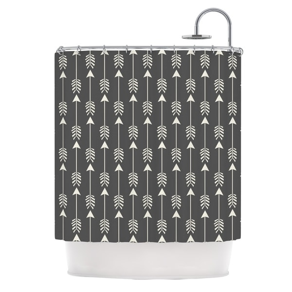 KESS InHouse Amanda Lane Tribal Arrows Dark Gray Shower Curtain (69x70)