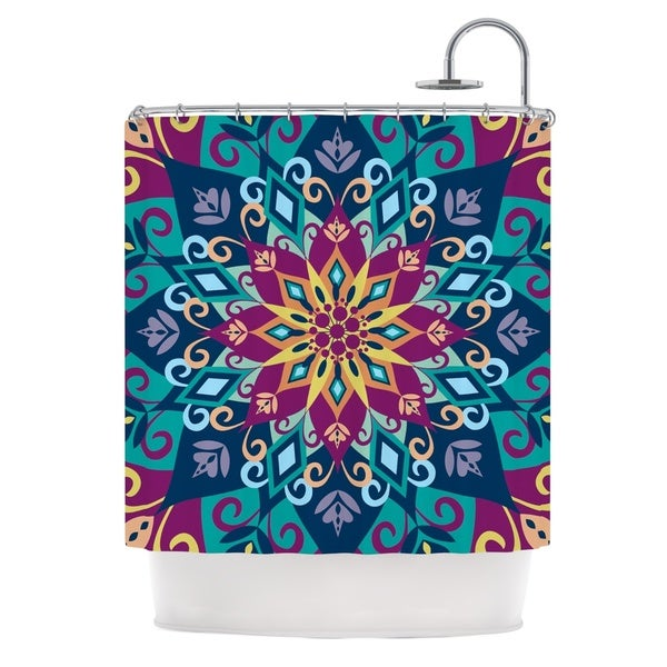 KESS InHouse Amanda Lane Blooming Mandala Shower Curtain (69x70)