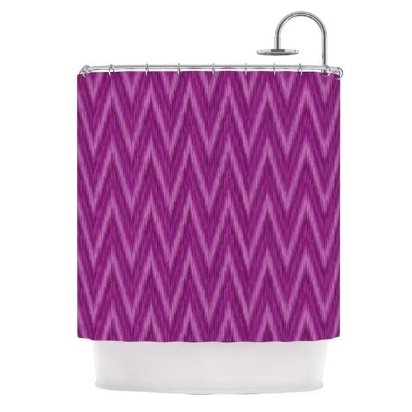 KESS InHouse Amanda Lane Plum Purple Chevron Lavender Fuschia Shower Curtain (69x70)